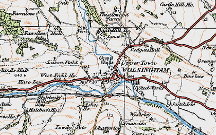 Old map of Lason Field in 1925