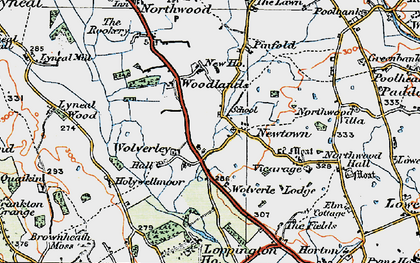 Old map of Woodlands, The in 1921