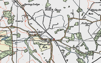 Old map of Wormesley Park in 1924