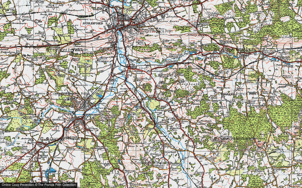 Old Map of Wonersh, 1920 in 1920