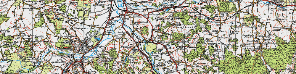 Old map of Wonersh in 1920