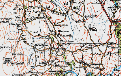 Old map of Wonson in 1919