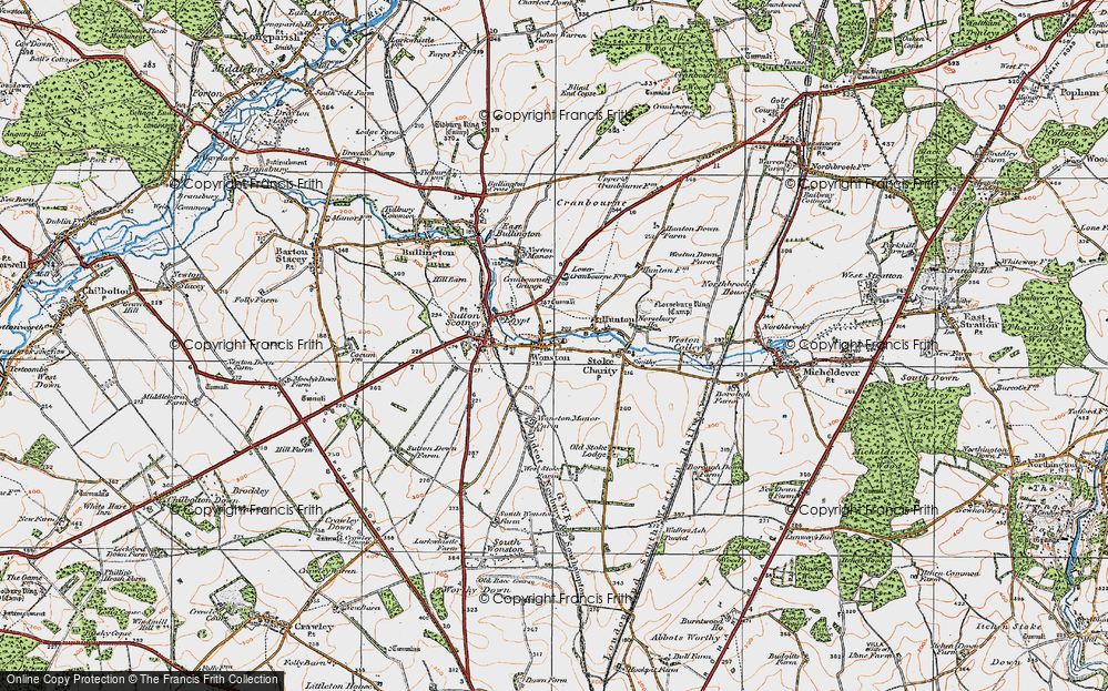 Old Map of Wonston, 1919 in 1919