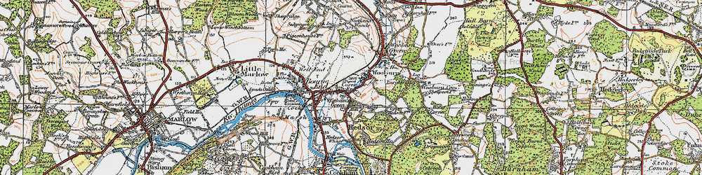 Old map of Wooburn in 1919