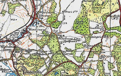 Old map of Wooburn Common in 1920