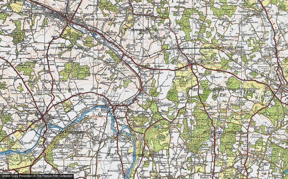 Old Map of Wooburn Green, 1920 in 1920