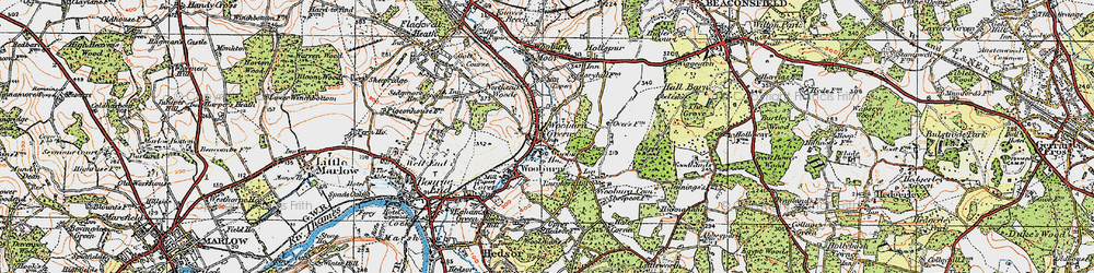 Old map of Wooburn Green in 1920
