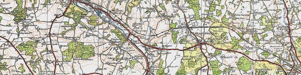Old map of Wooburn Moor in 1920