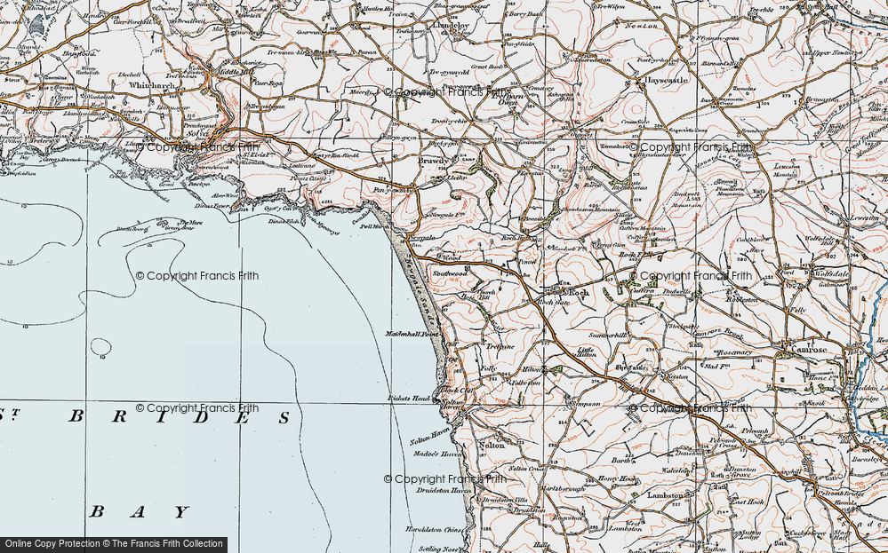 Old Map of Wood, 1922 in 1922