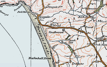 Old map of Wood in 1922