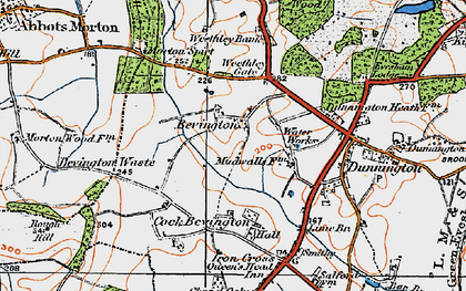 Old map of Wood Bevington in 1919