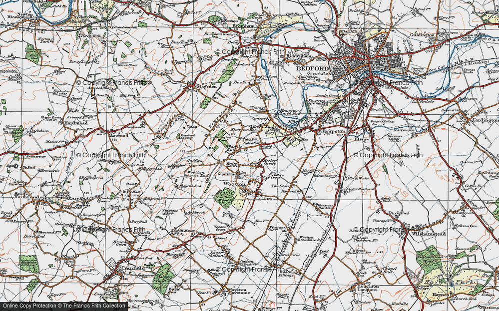 Old Map of Wood End, 1919 in 1919