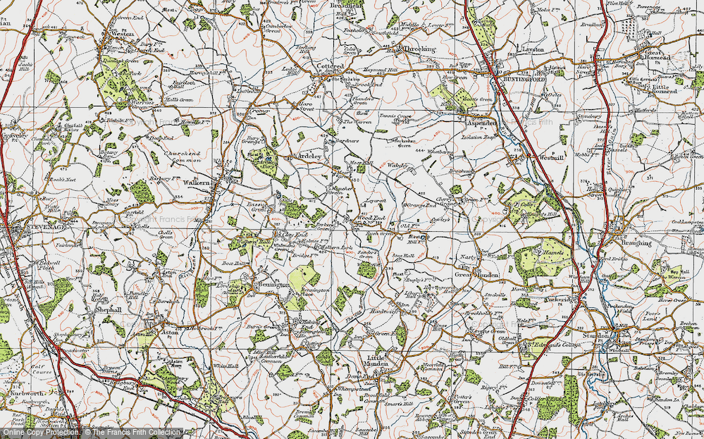 Old Map of Historic Map covering Leycroft in 1919