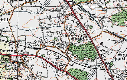Old map of Wood End in 1920