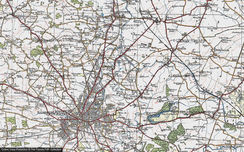 Old Map of Wood End, 1920 in 1920
