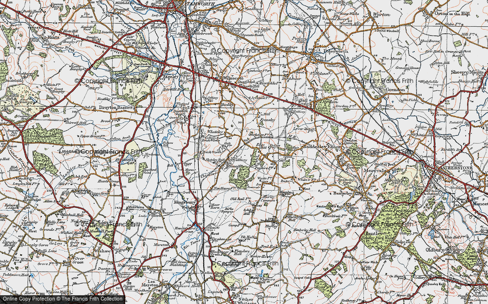 Old Map of Wood End, 1921 in 1921