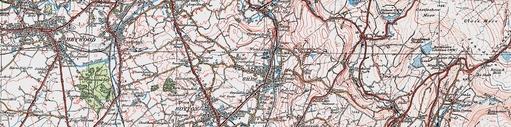 Old map of Wood End in 1924