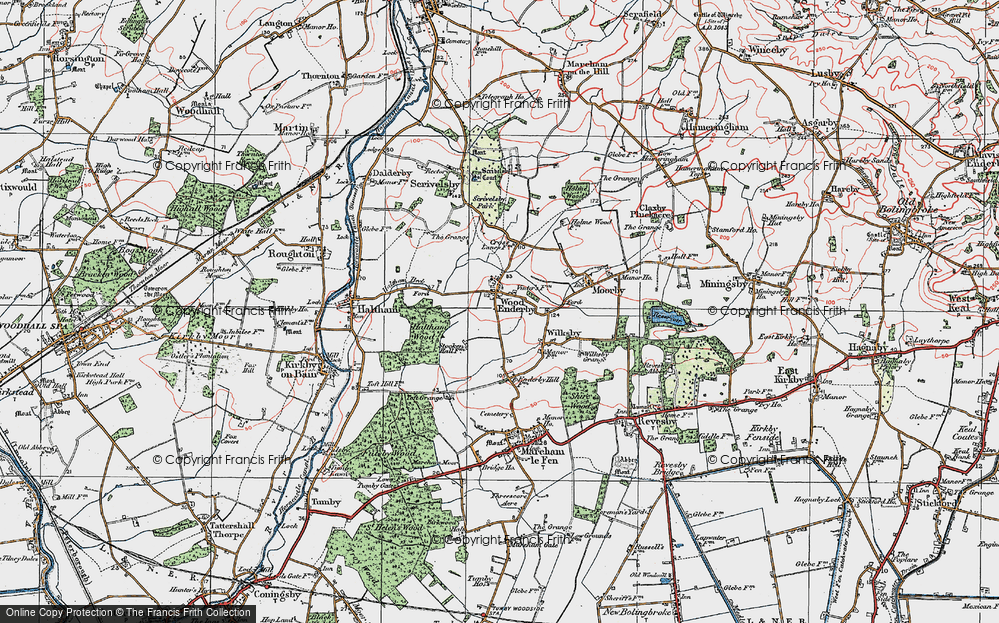 Old Map of Wood Enderby, 1923 in 1923