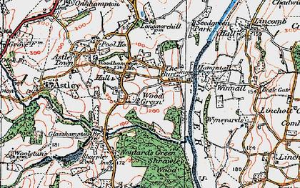 Old map of Woodhampton Ho in 1920