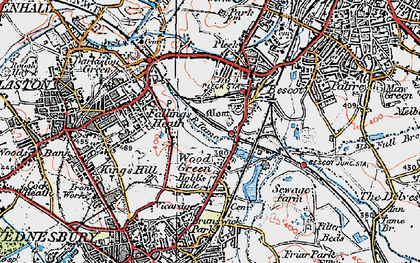 Old map of Wood Green in 1921
