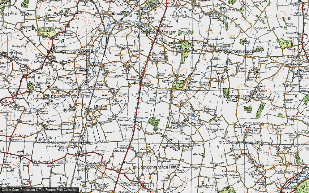 Old Map of Wood Green, 1921 in 1921