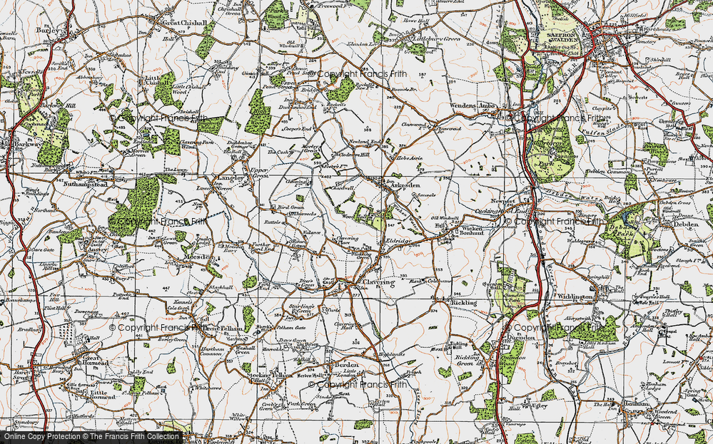 Old Map of Wood Hall, 1919 in 1919