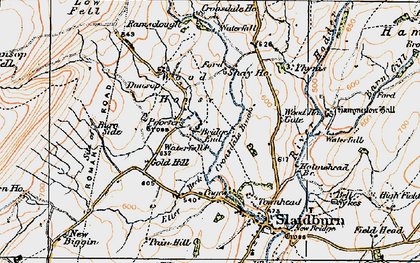 Old map of Laythams in 1924