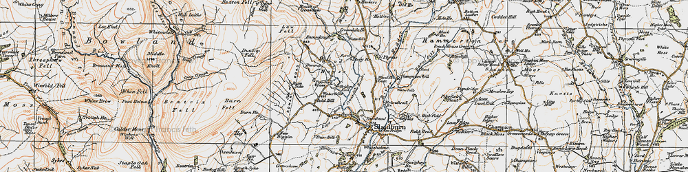 Old map of Wood House in 1924