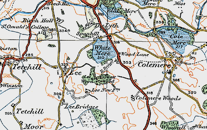 Old map of Yarnest Wood in 1921
