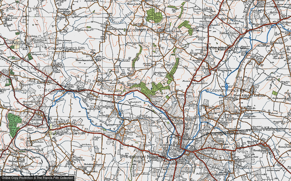 Old Map of Wood Norton, 1919 in 1919