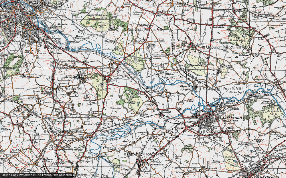 Old Map of Wood Row, 1925 in 1925