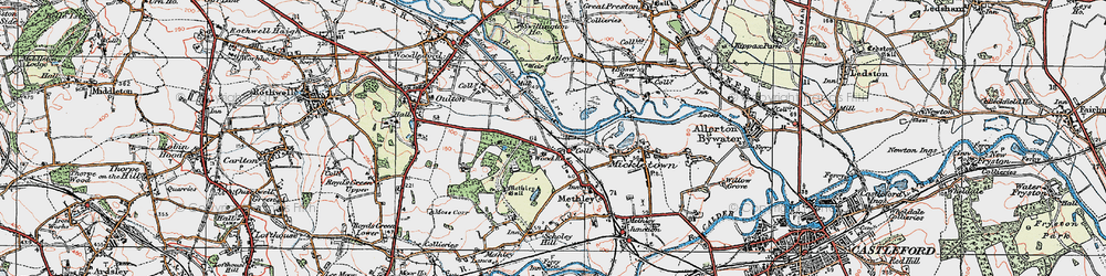 Old map of Wood Row in 1925