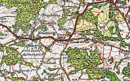 Old map of Wood's Corner in 1920