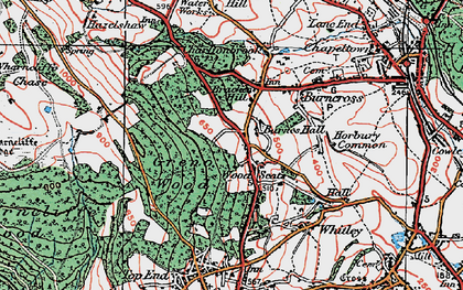 Old map of Wood Seats in 1924