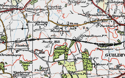 Old map of Wildfield Copse in 1920