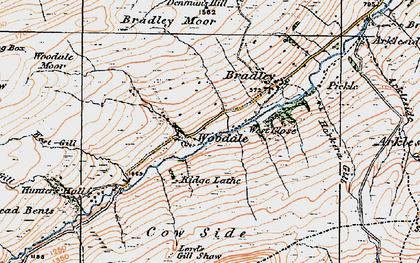 Old map of Angram Reservoir in 1925