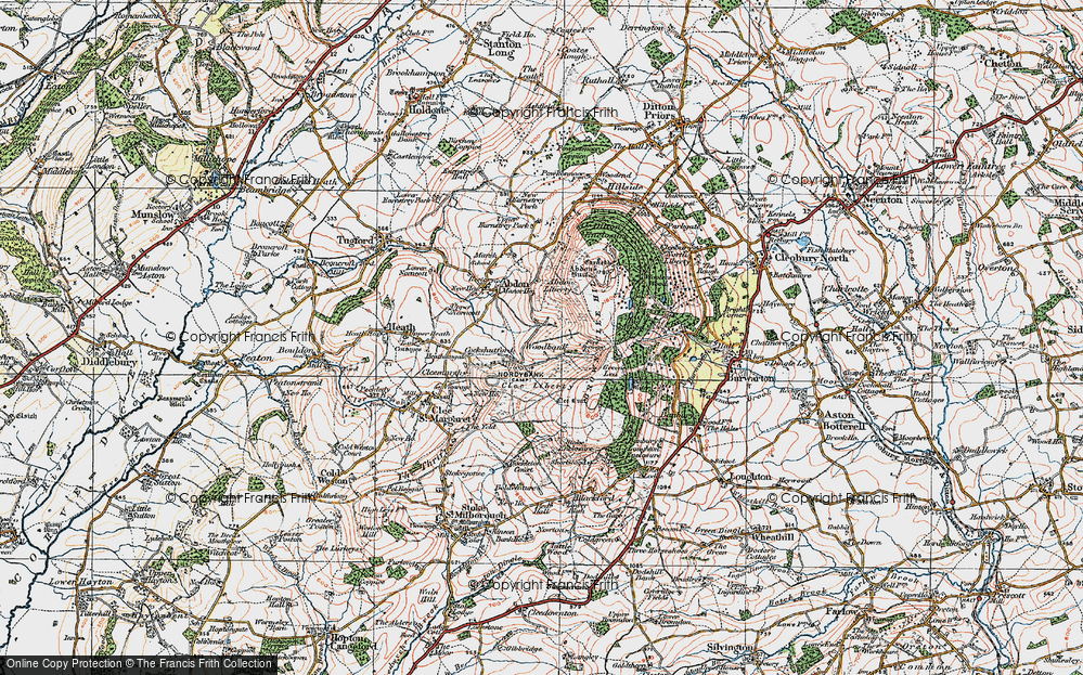 Old Map of Woodbank, 1921 in 1921