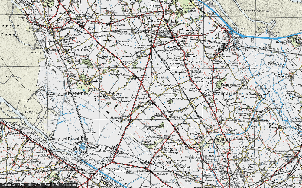Old Map of Woodbank, 1924 in 1924