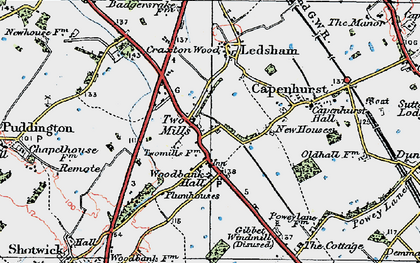 Old map of Woodbank in 1924