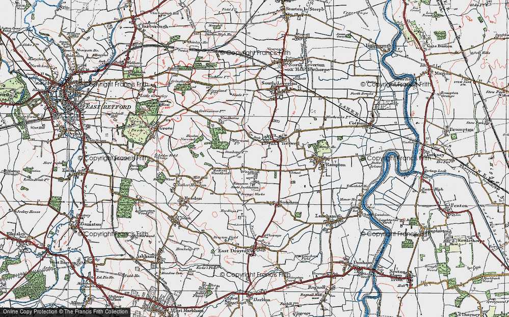 Old Map of Woodbeck, 1923 in 1923
