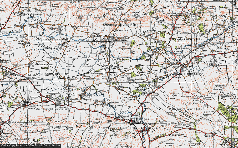 Old Map of Woodborough, 1919 in 1919