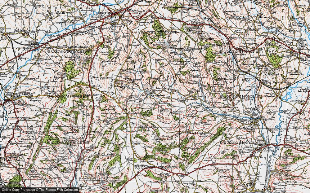 Old Map of Woodbridge, 1919 in 1919
