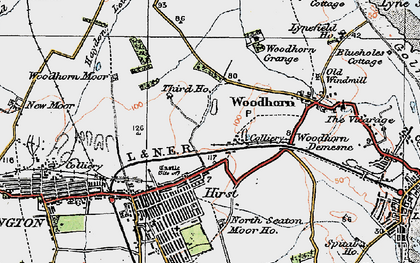 Old map of Woodbridge in 1925