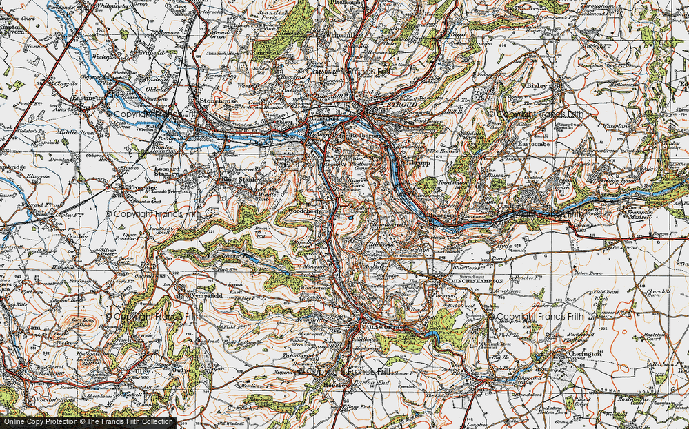 Old Map of Woodchester, 1919 in 1919