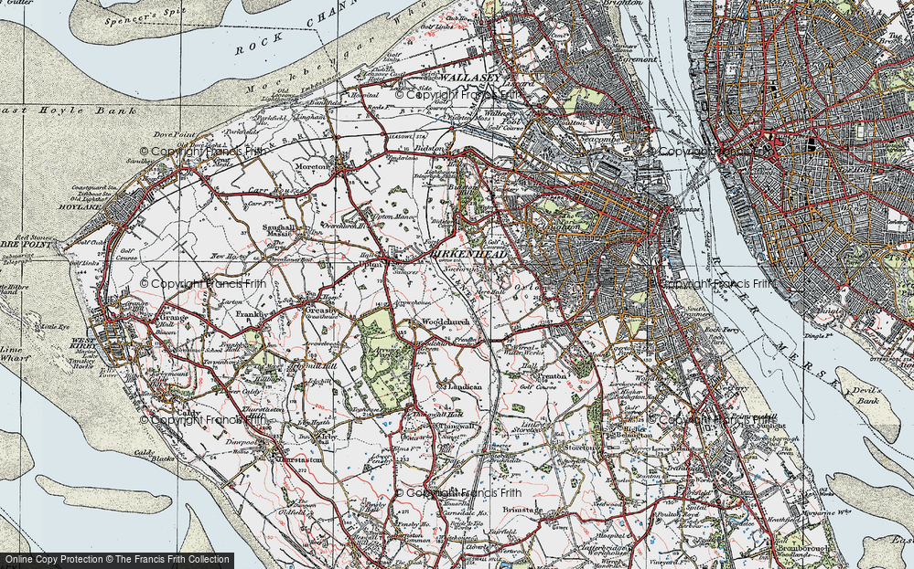 Old Map of Woodchurch, 1923 in 1923