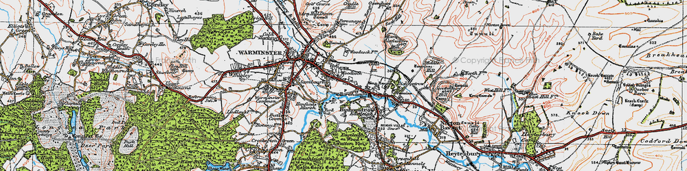 Old map of Woodcock in 1919