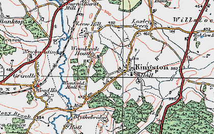 Old map of Woodcock Heath in 1921