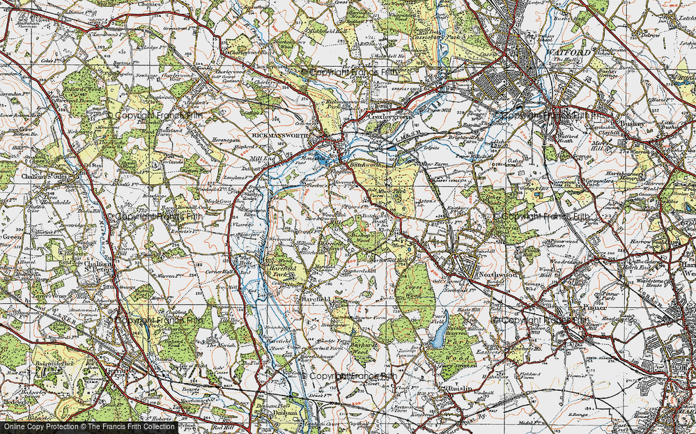 Old Map of Woodcock Hill, 1920 in 1920
