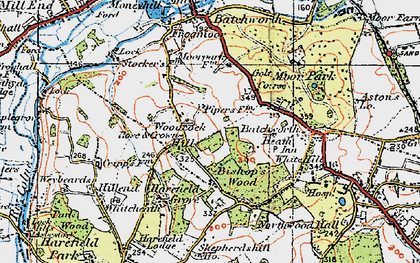 Old map of Woodcock Hill in 1920