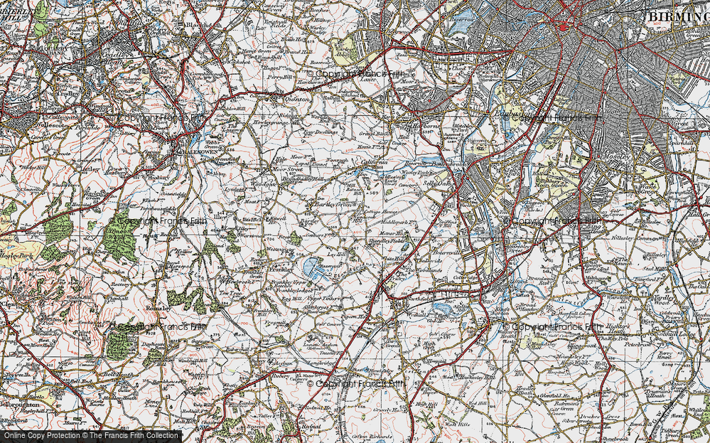 Old Map of Woodcock Hill, 1921 in 1921